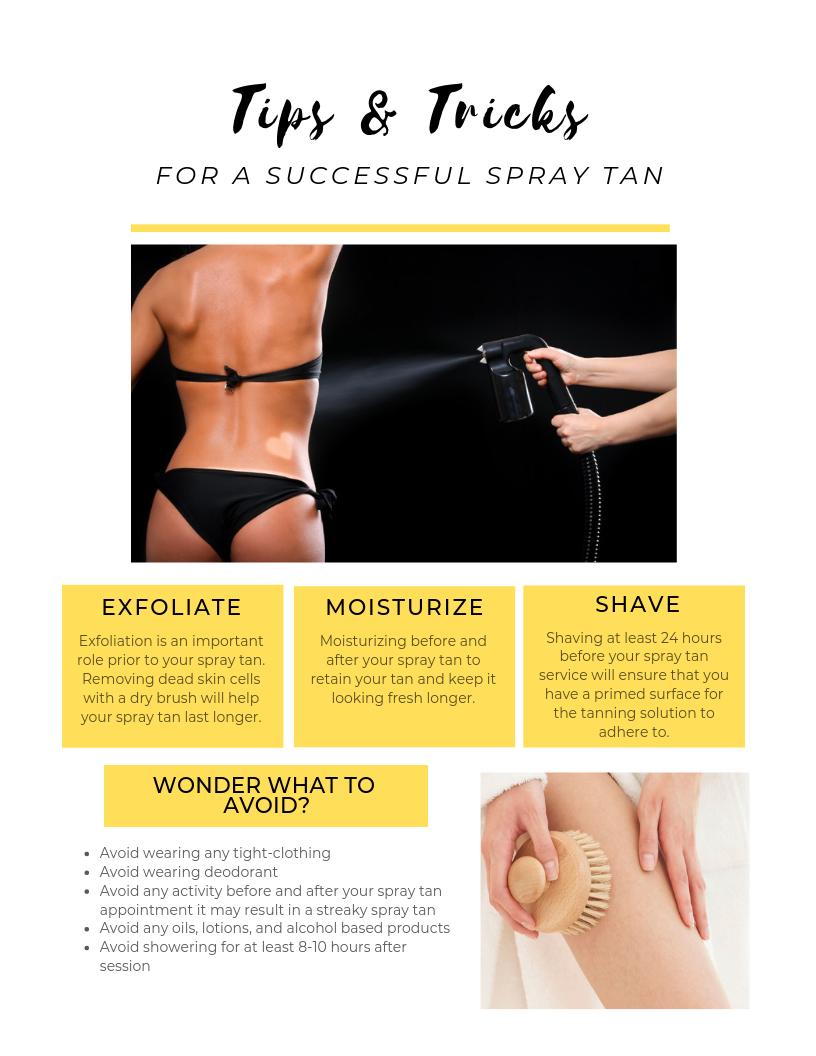 Tips & Tricks: Spray Tan